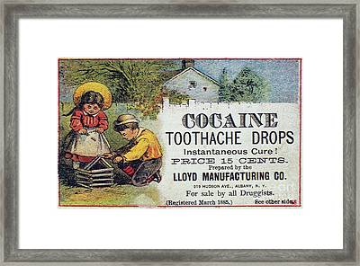 Cocaine Medicine Ad, 1885 Framed Print by Granger