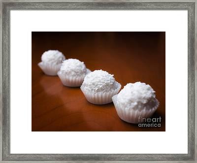 Coconut Balls Framed Print by Sinisa Botas