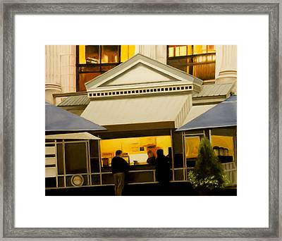 Coffee Kiosk Framed Print by Richard Weinberger