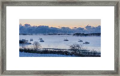 Cold Day Down East Maine Framed Print