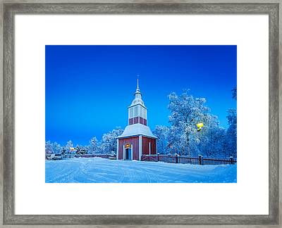Cold Winter With Temperatures Going Framed Print