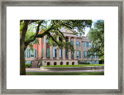 College Of Charleston Randolph Hall Framed Print