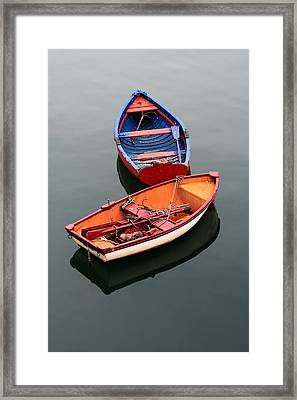 Colorful Boats Framed Print by Mikel Martinez de Osaba