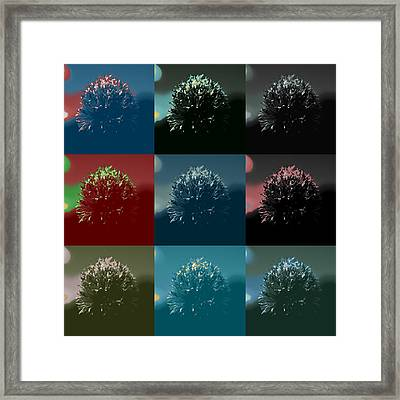 Colorful Flowers Framed Print by Tommytechno Sweden