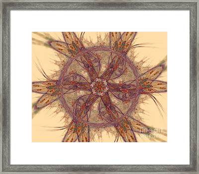 Colorful Mandala Figures  Framed Print