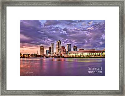 Colorful Night Lights Framed Print
