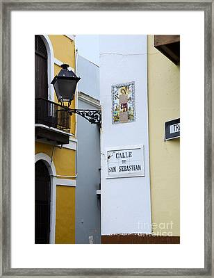 Colorful Old San Juan Framed Print by Birgit Tyrrell