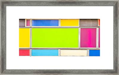 Colorful Panels Framed Print by Tom Gowanlock