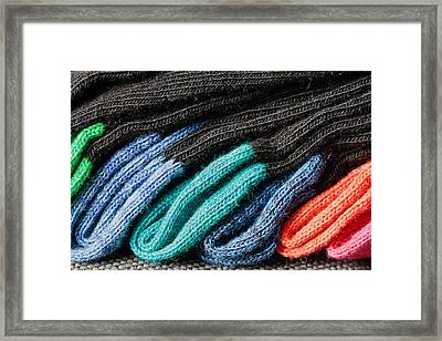 Colorful Socks Framed Print by Tom Gowanlock