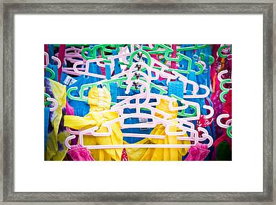 Colorful Tops Framed Print