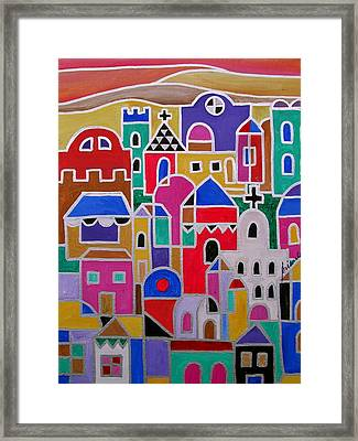 Colorful Town Of Guanajuato Mexico Framed Print
