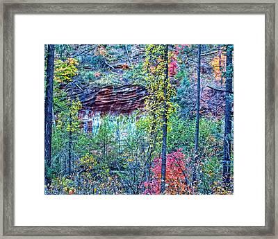 Colorful Wall Framed Print by Brian Lambert
