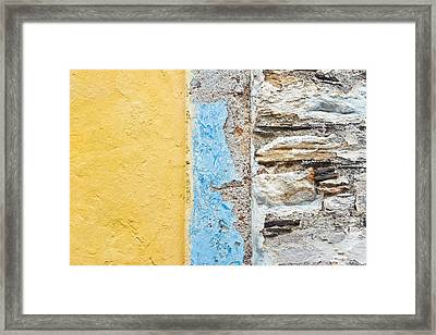 Colorful Wall Framed Print by Tom Gowanlock