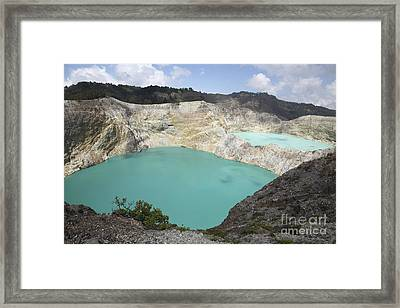 Colourful Crater Lakes Of Kelimutu Framed Print by Richard Roscoe