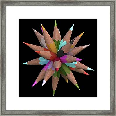 Colouring Pencils Framed Print