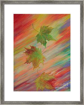 Colours Of Autumn. Inspirations Collection. Framed Print