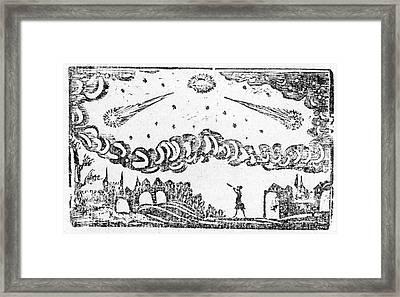 Comet Of 1664-5 Framed Print