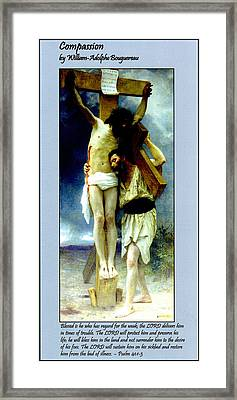 Compassion Framed Print by William Bouguereau
