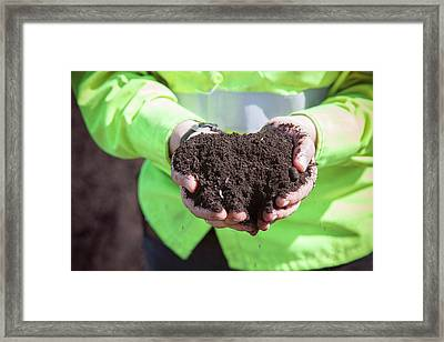 Compost Produced From Food Waste Framed Print