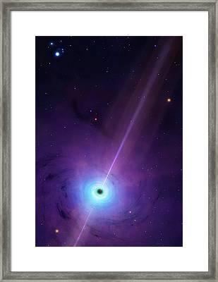Computer Artwork Of Black Hole Framed Print