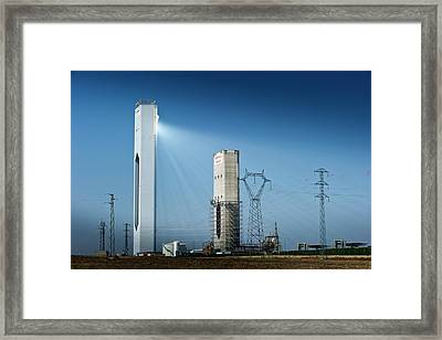 Concentrating Solar Power Plant Framed Print by Philippe Psaila