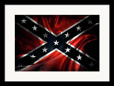 Confederate Flag Framed Prints