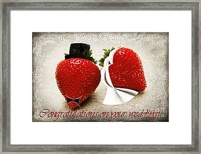 Congratulations On Your Wedding Framed Print by Andee Design