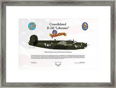 Consoldated B-24j Liberator Framed Print