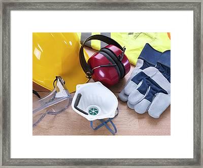 Construction Safety Equipment Framed Print