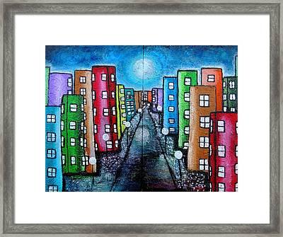 Contemporary City Framed Print