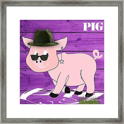 Cool Pig Collection Framed Print by Marvin Blaine