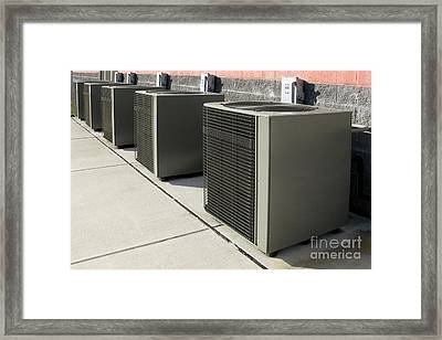 Cooling Power Row Framed Print by Olivier Le Queinec