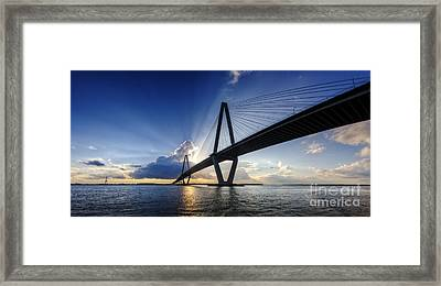 Cooper River Bridge Charleston Sc Framed Print