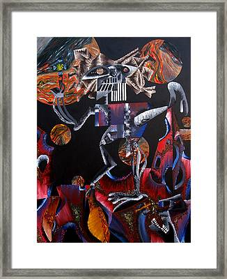 Framed Print featuring the painting Copernicasso by Ryan Demaree