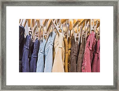 Corduroy Trousers Framed Print by Tom Gowanlock