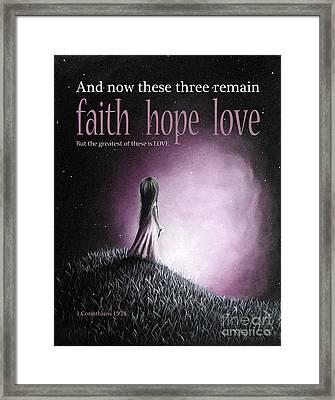 Corinthians Inspirational Bible Verses Framed Print