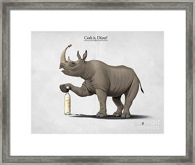 Cork It Durer Framed Print by Rob Snow