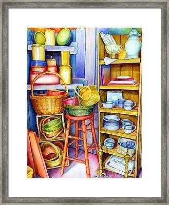 Corner Of Time Framed Print by Hailey E Herrera