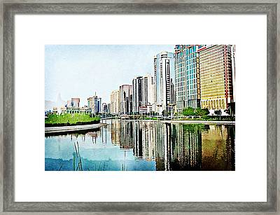 Corniche Gardens Framed Print by Peter Waters
