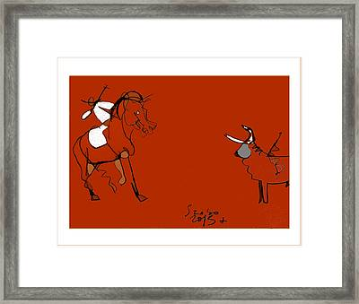 Corrida Equestre 2013 Framed Print by Peter Szabo