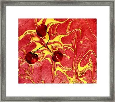 Cosmic Cherry Framed Print by Chrystyne Novack
