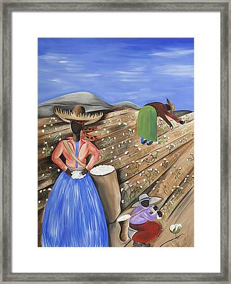 Cotton Pickin' Cotton Framed Print by Patricia Sabree
