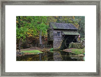 Country Mill And Pond Framed Print by Paul Ward