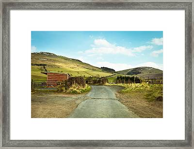 Country Track Framed Print