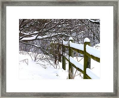 Country Winter Framed Print by Deena Stoddard