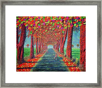 Country.fall Framed Print by Viktor Lazarev