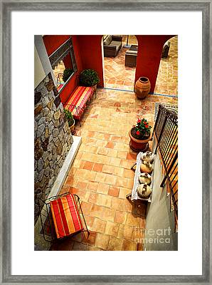 Courtyard Of A Villa Framed Print