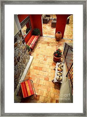 Courtyard Of A Villa Framed Print by Elena Elisseeva