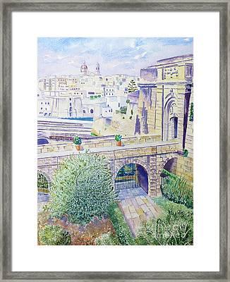 Couvre Port Birgu Malta Framed Print