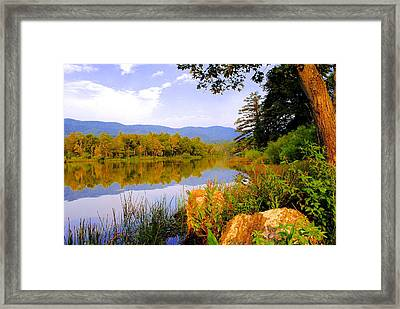 Cove Lake State Park Framed Print by Frozen in Time Fine Art Photography